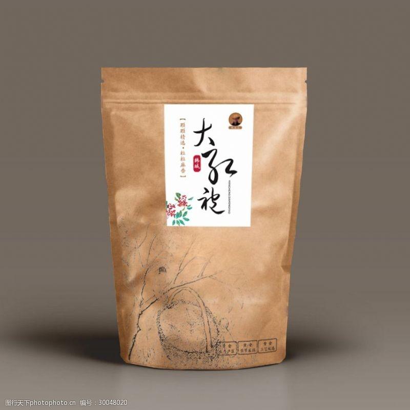 二大韩城大红袍花椒包装设计系列二