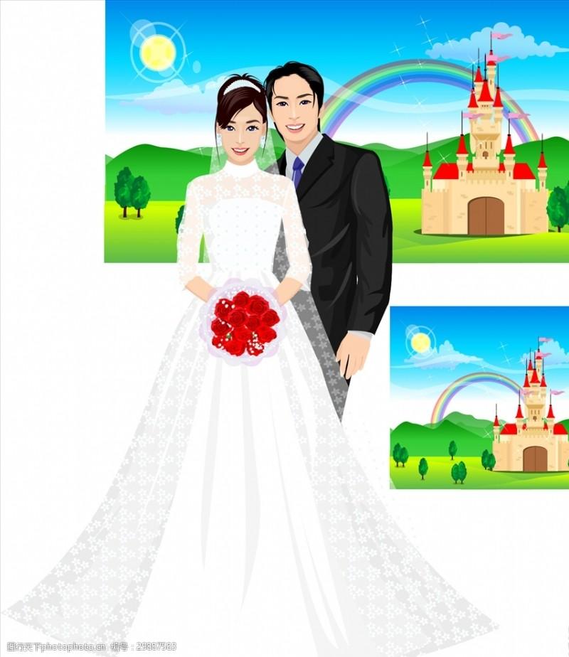结婚婚纱礼服人物结婚