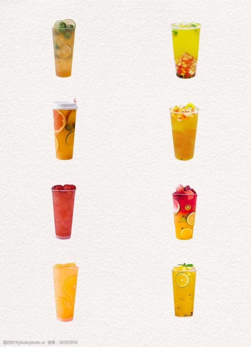 水果汁冰镇清凉水果茶产品实物