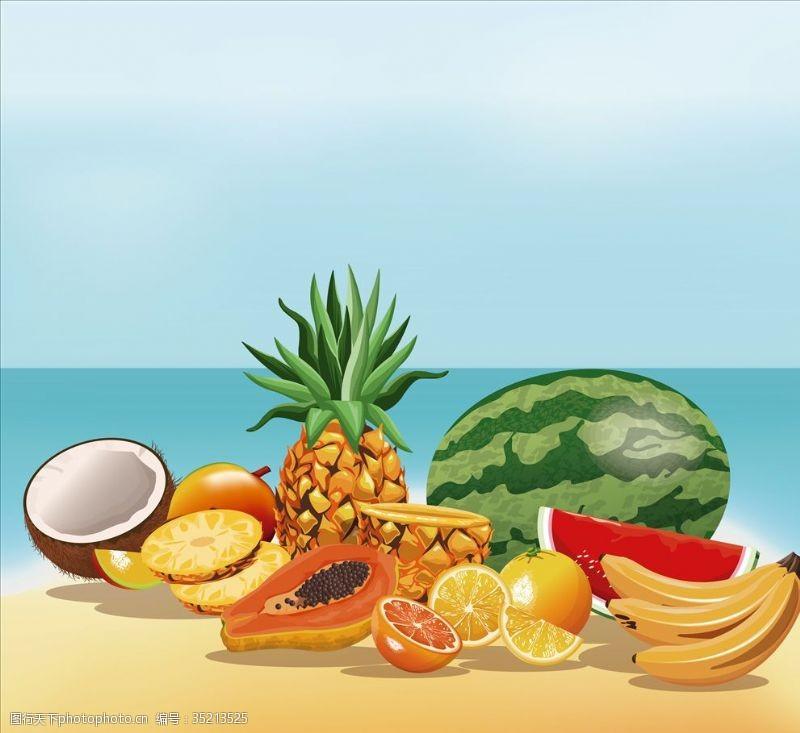 超市水果背景水果