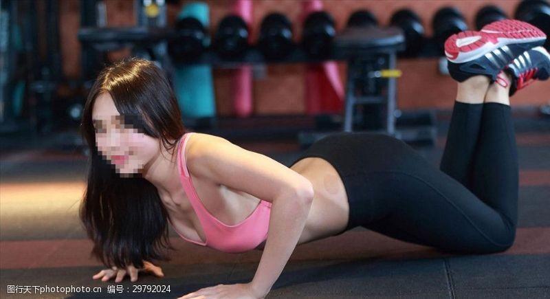 健康身材健身美女