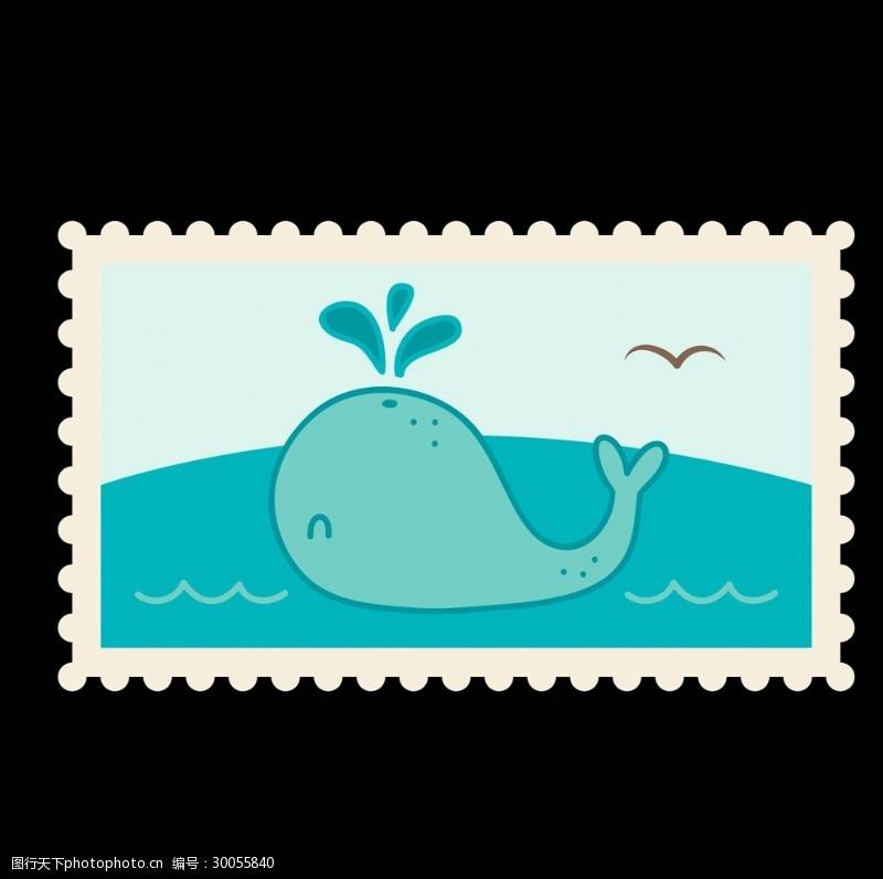 旅游不干胶邮票矢量