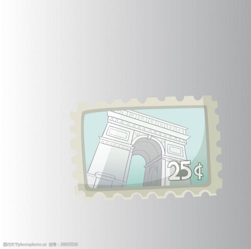 中国风邮票邮票矢量