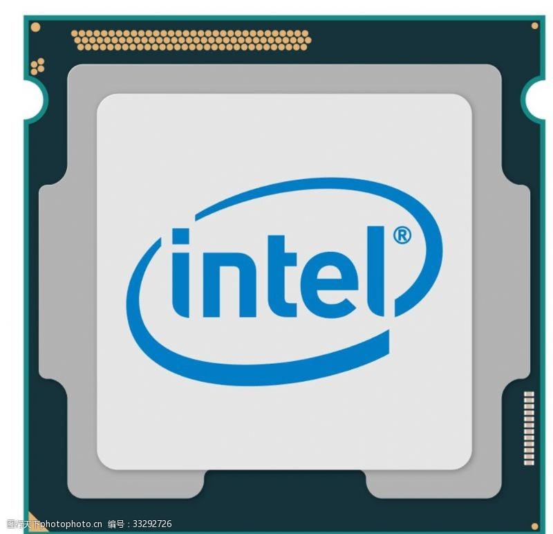 中央处理器英特尔CPU矢量图