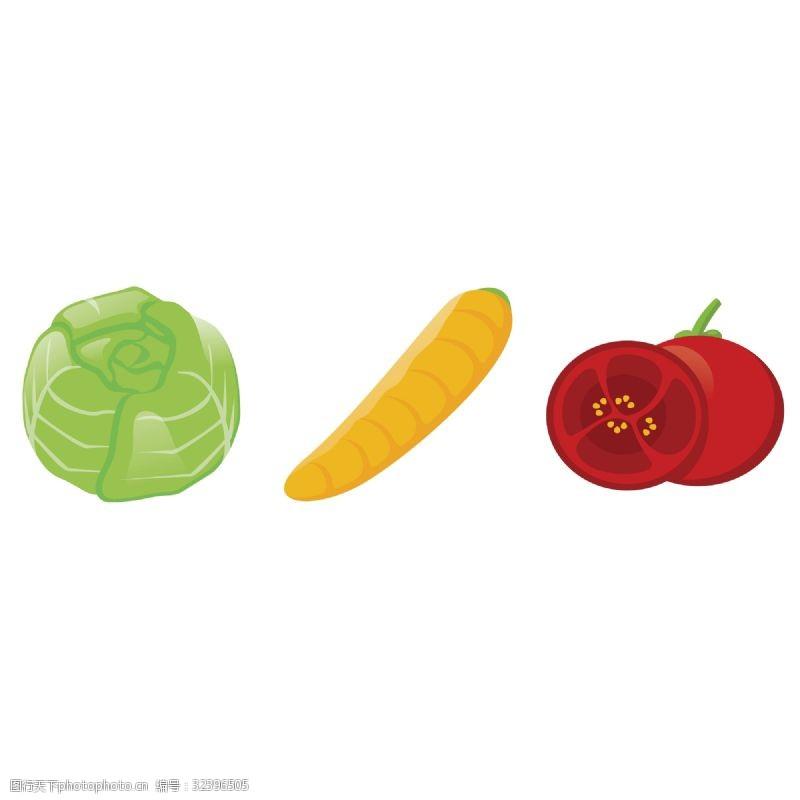 夏季蔬菜卡通蔬菜造型元素