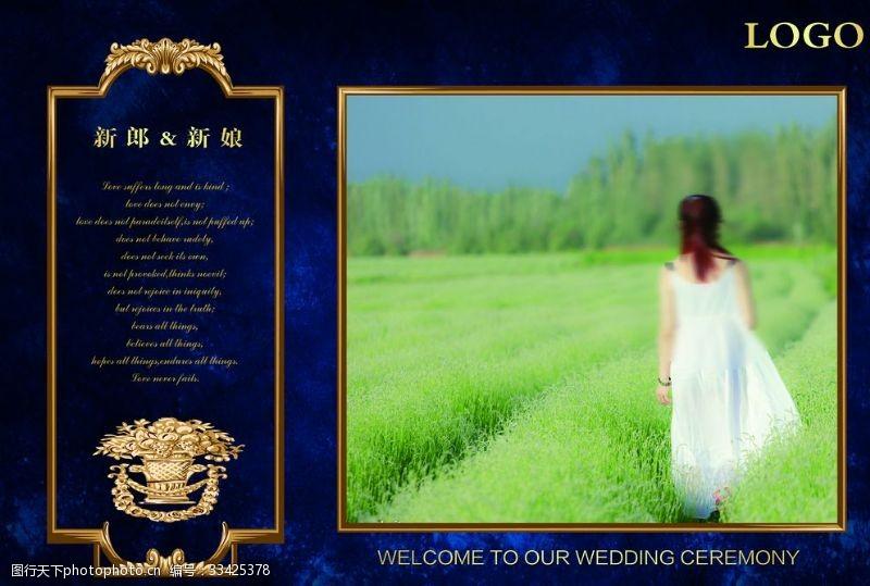 欧式迎宾深蓝色婚礼迎宾