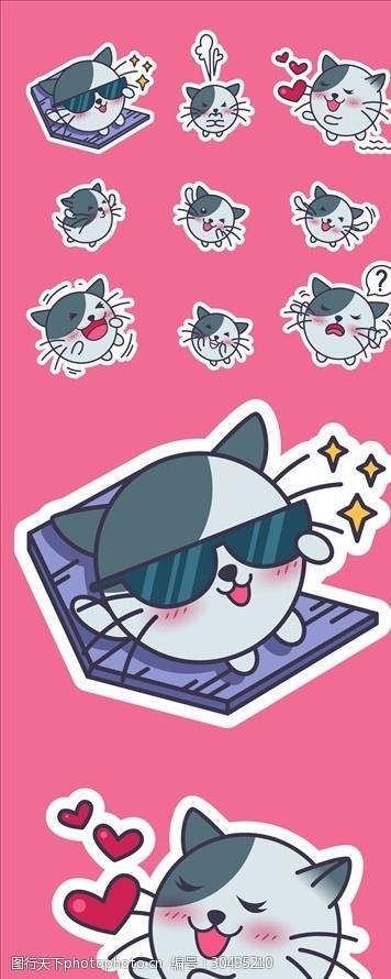 创意猫咪卡通猫