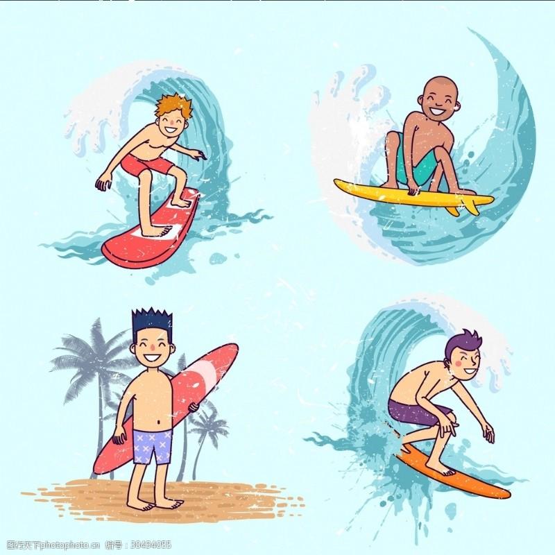 冲浪者冲浪男孩