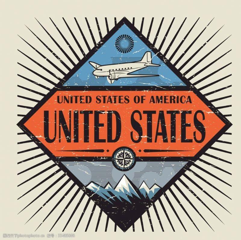 国家标签标签标志