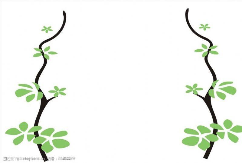 矢量花纹背景树藤