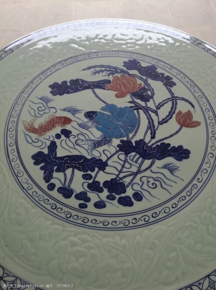 陶瓷兰彩青花瓷素材图片陶瓷花纹