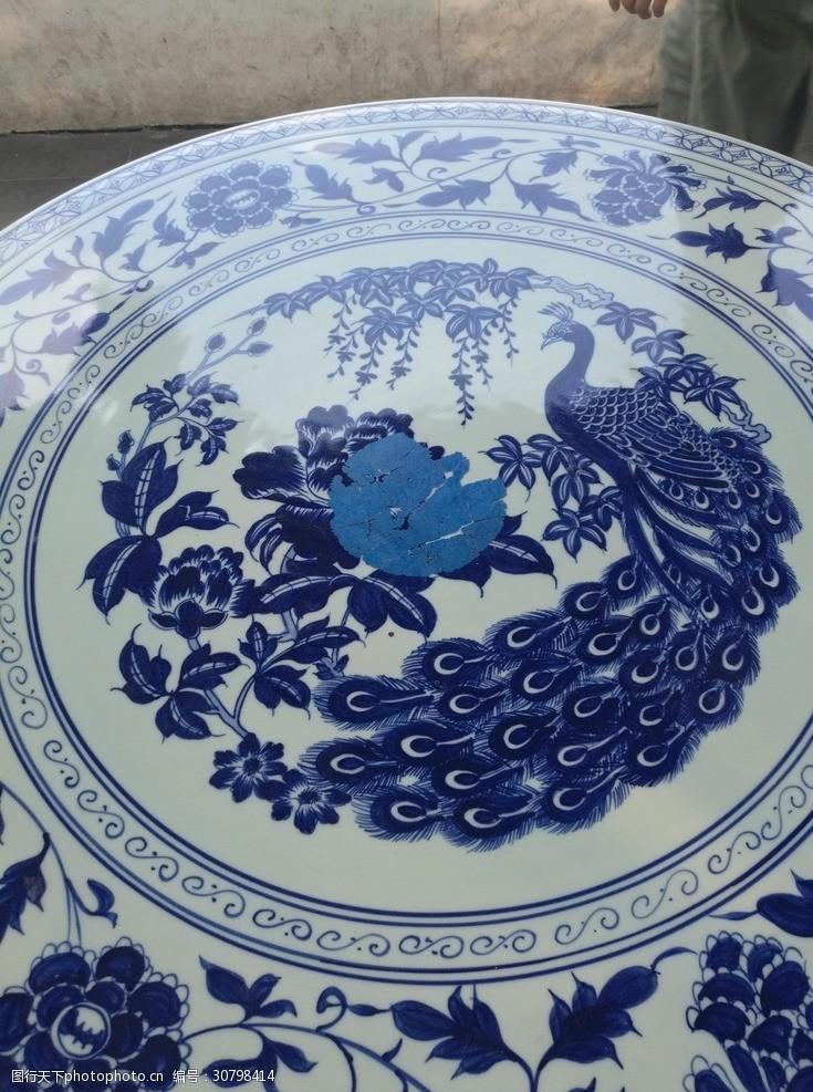 陶瓷兰彩陶瓷花纹青花瓷素材