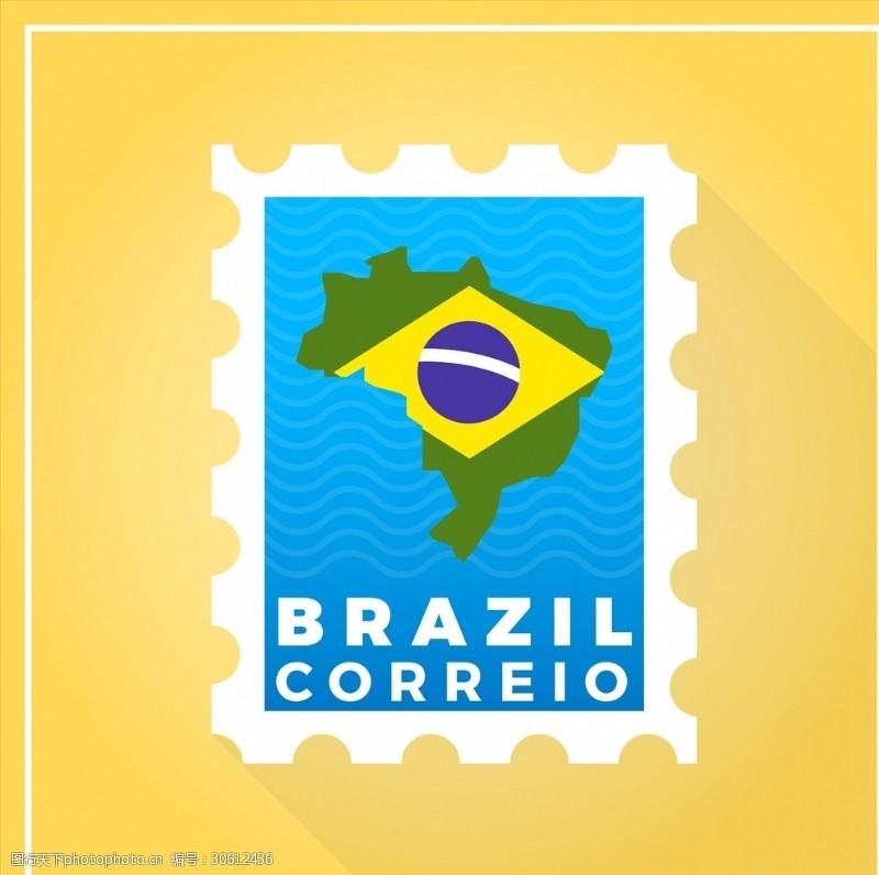 手绘邮票时尚邮票贴纸