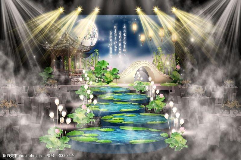 莲灯新中式婚礼舞台