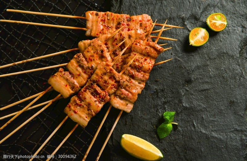 猪五花烤五花肉