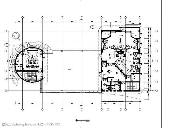 室内设计平面图豪华KTV酒吧室内设计图