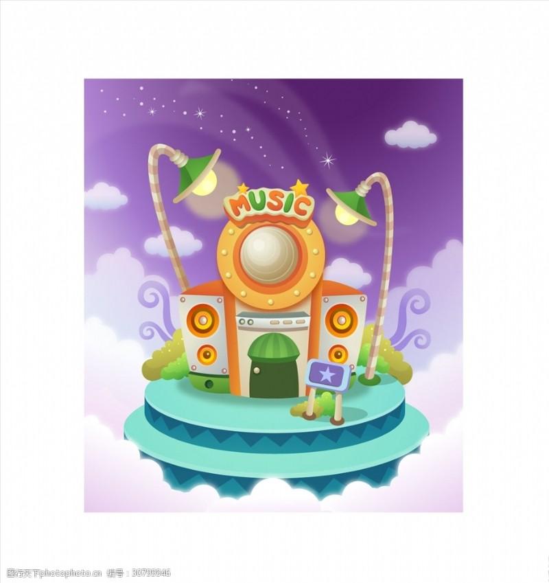 卡通音箱音乐城堡