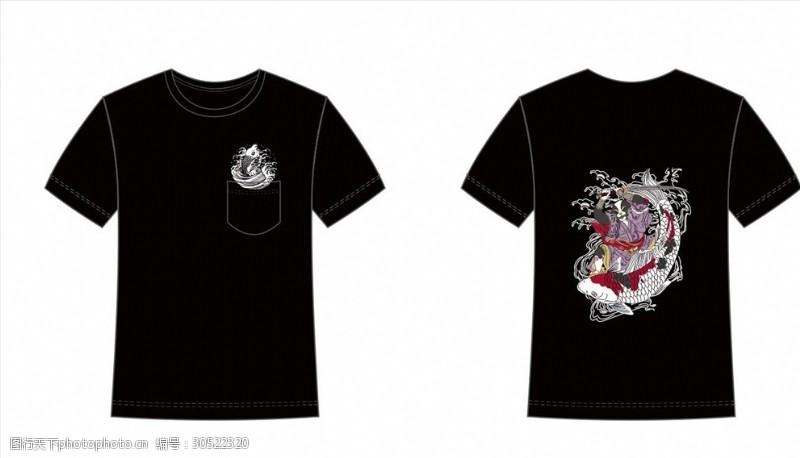 矢量传统图案T恤