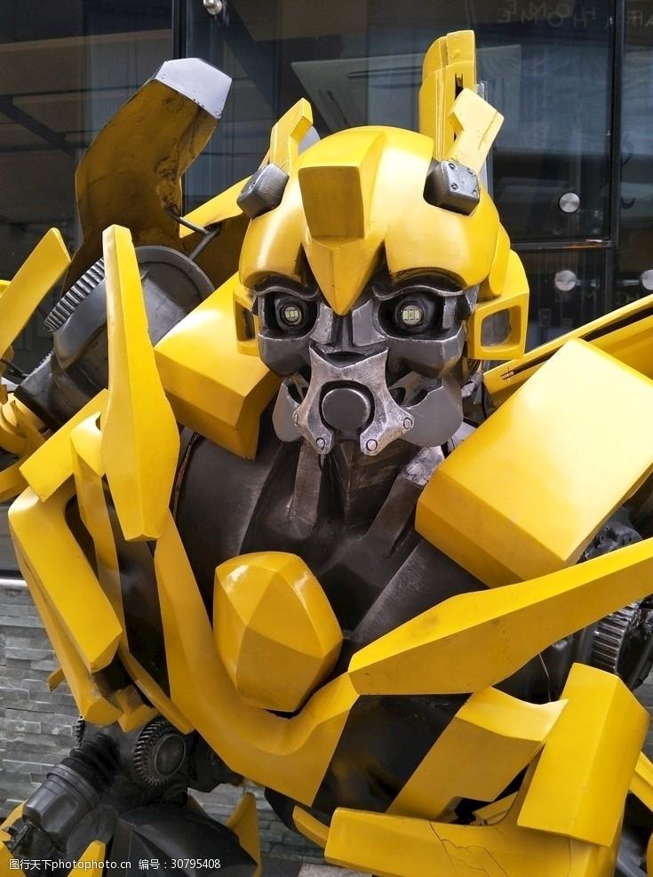 机器人大黄蜂面部特写