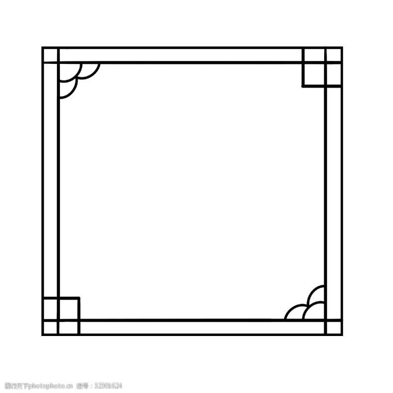 古典图古风边框回字形插画