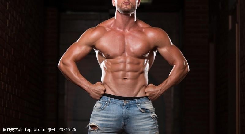 肌肉展示图片素材